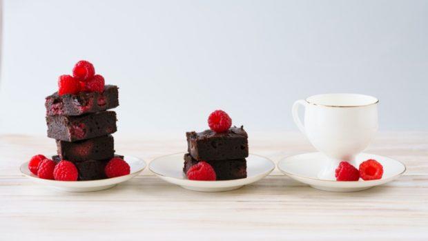Receta de brownie de frambuesas