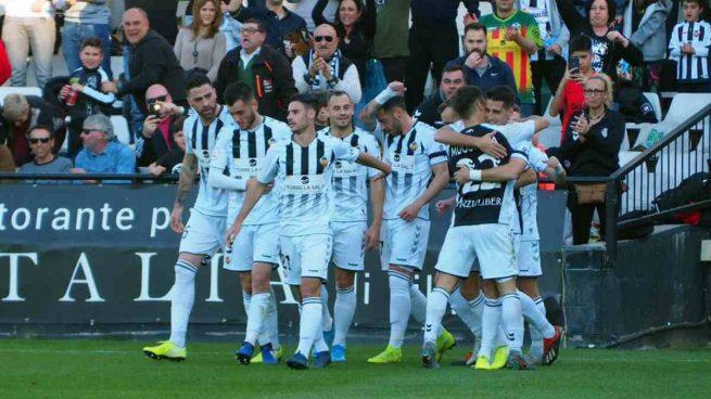 Los jugadores del Castellón
