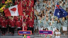 Canadá y Australia durante la ceremonia de inauguración de los Juegos Olímpicos Rio 2016. (AFP)