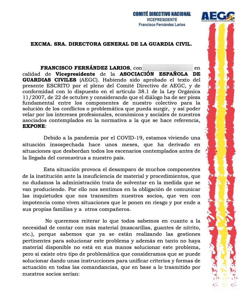 La Guardia Civil estalla contra el mensaje oficial que afirma que todos los agentes cuentan con mascarillas
