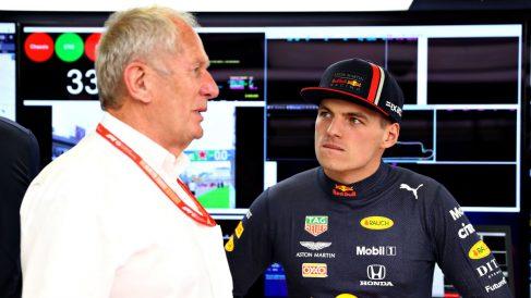 Helmut Marko, junto a Max Verstappen. (Getty)