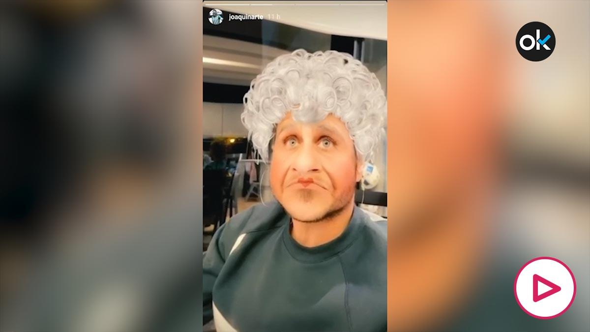 Joaquín, en su vídeo publicado en Instagram.