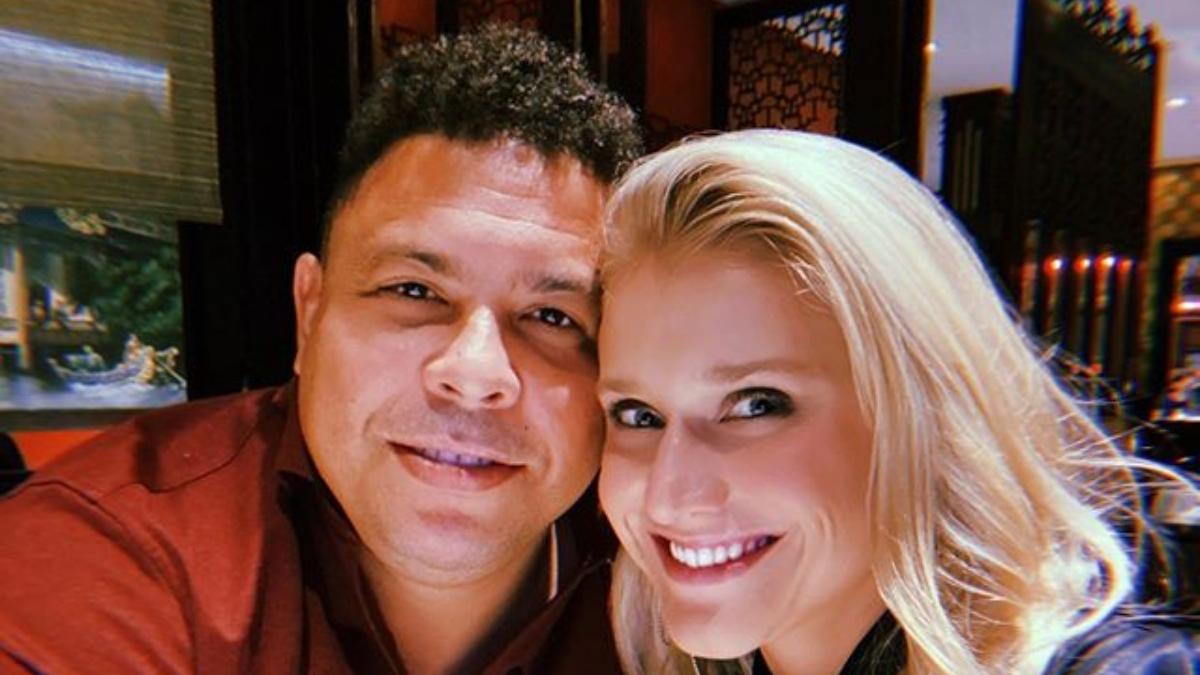 Celina Locks y Ronaldo Nazario, en una foto anterior.