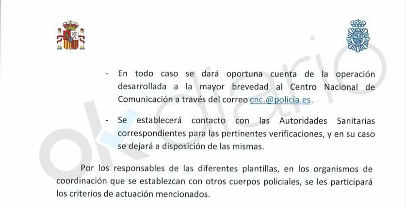 Interior ordena a la Policía ocultar los datos de la incautación de mascarillas y material sanitario