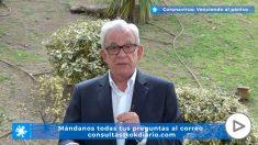 Jesús Sánchez Martos explica qué hacer si tiene síntomas de coronavirus