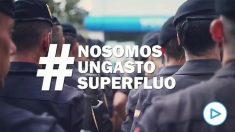 El vídeo difundido por sindicatos de la Policía Nacional y la Guardia Civil que retrata a Pedro Sánchez y a Pablo Iglesias: «No somos un gasto superfluo».