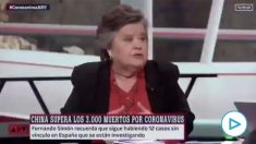 Cristina Almeida el pasado 6 de marzo: «El machismo es mucho más peligroso y más nocivo que el coronavirus».