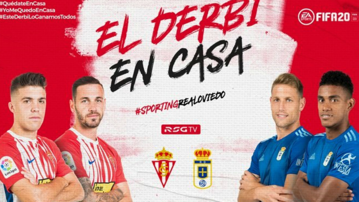 La creatividad del Sporting para anunciar el derbi.