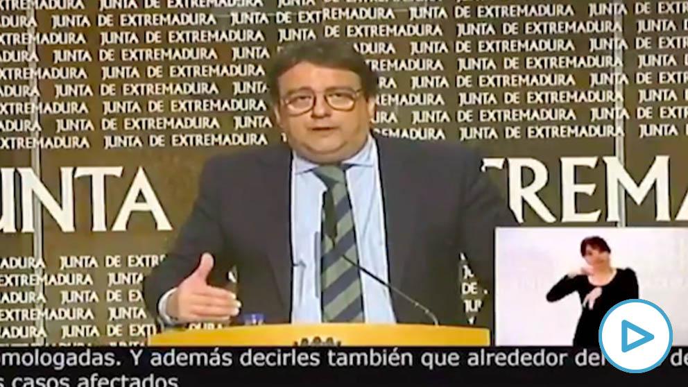El vicepresidente segundo y consejero de Sanidad y Servicios Sociales de Extremadura, José María Vergeles.