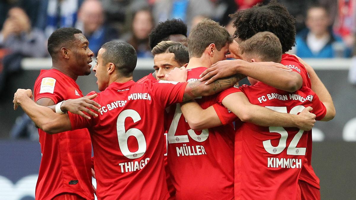 Los jugadores del Bayern Munich durante un partido esta temporada. (AFP)