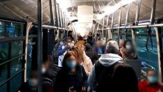 Autobús de Sevilla, este martes.