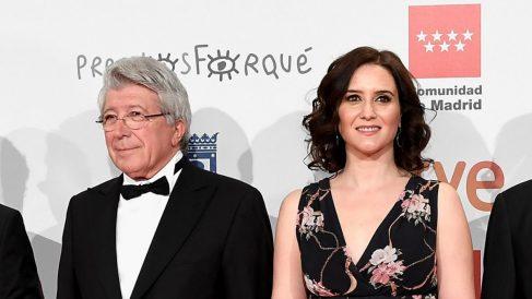 Enrique Cerezo e Isabel Díaz Ayuso. (Getty)