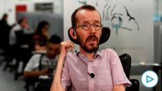 El secretario de Acción de Gobierno de Podemos Pablo Echenique, en el set de televisión del Congreso (Foto: EFE)