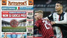 Los clubes italianos temen que no se reanuda la Serie A.