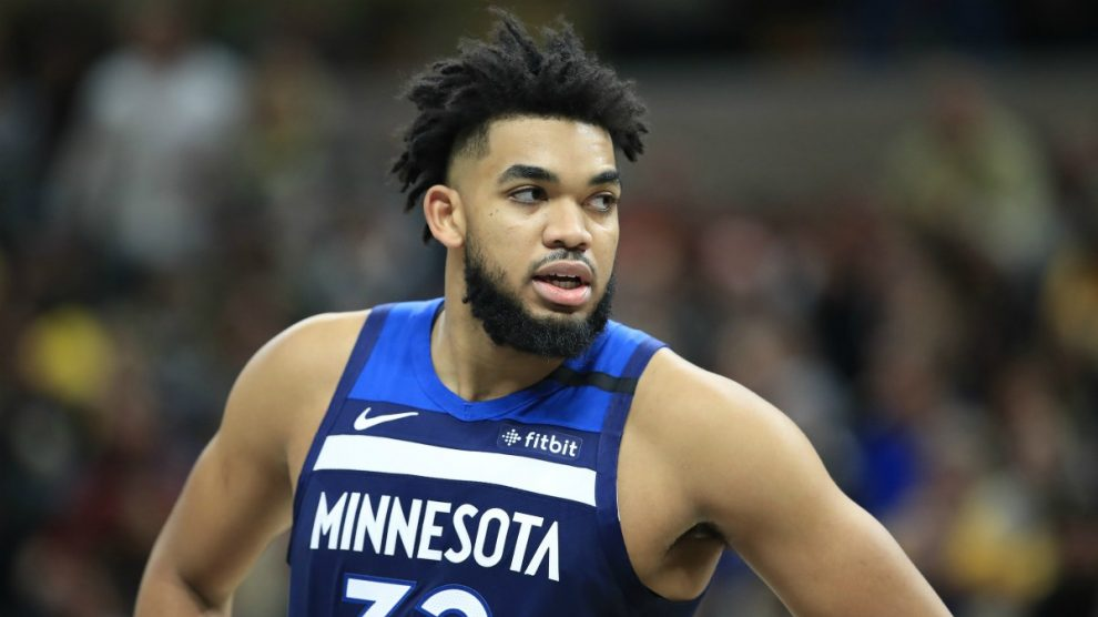 Karl-Anthony Towns, jugador de la NBA. (AFP)