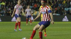 Silvia Meseguer, durante un partido con el Atlético de Madrid. (atleticodemadrid.com)
