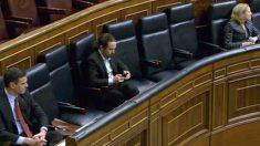 El vicepresidente del Gobierno, Pablo Iglesias, en el Congreso.