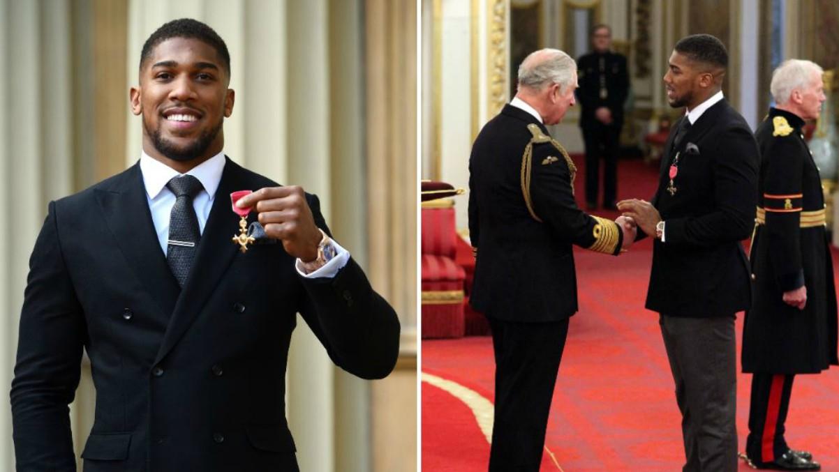Anthony Joshua saluda al Príncipe Carlos. (Twitter)