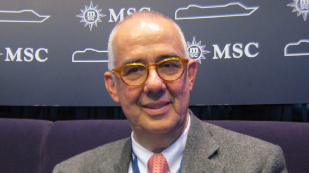 El presidente de MSC España, Emiliano González.