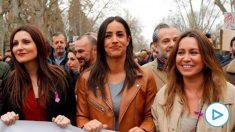 Begoña Villacís en la marcha del 8M en Madrid. Foto: EP