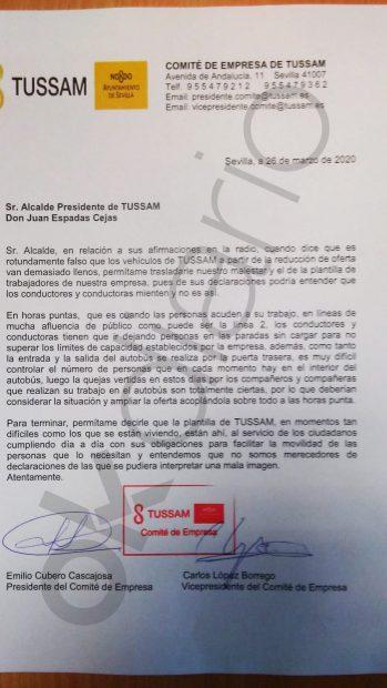 Carta contra Espadas.