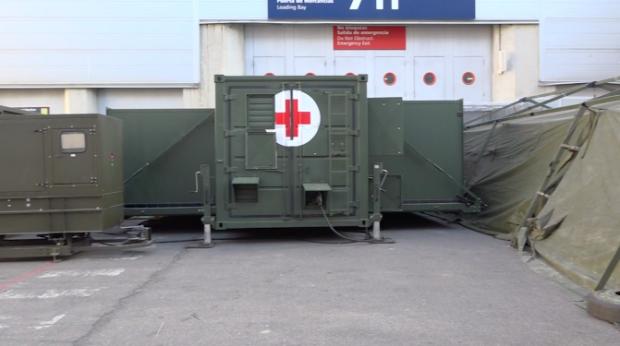 OKDIARIO recorre el 'hospital milagro' de Ifema: «En una noche montamos más de 40.000 m2 de suelo»