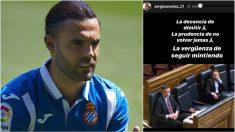 Sergio Sánchez y su mensaje publicado en Instagram.