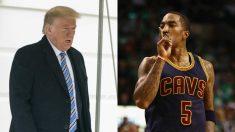 Donald Trump y J.R. Smith. (Getty)