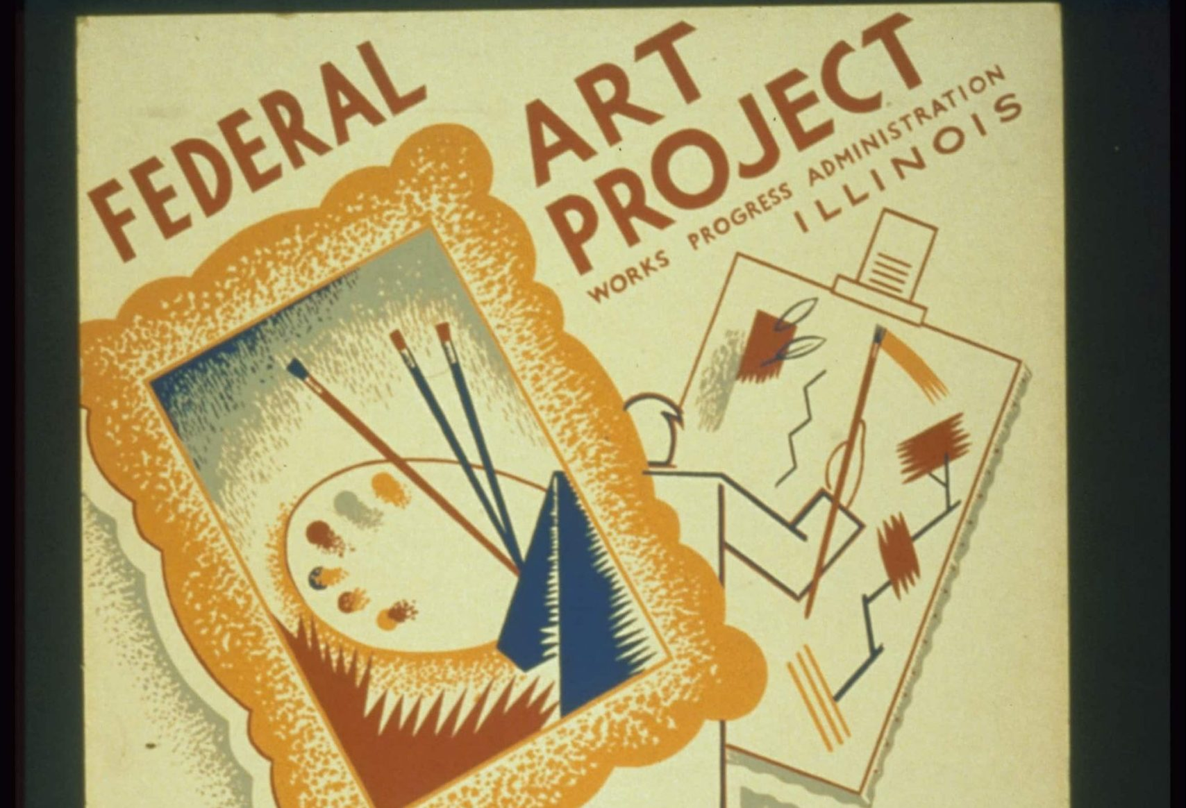 "Poster ""Federal Art Project Exhibition of Paintings"" @Getty"