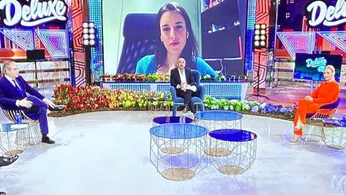 Irene Montero, este sábado, en el Deluxe de Telecinco.