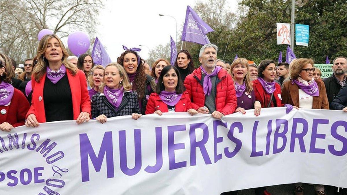 Imagen de la manifestación del 8M de 2020.