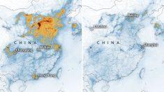 Comparación de la contaminación entre 2019 y 2020 durante los primeros meses del año. Coincidiendo con el brote de coronavirus.