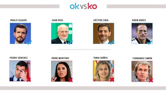 Los OK y KO del domingo, 29 de marzo