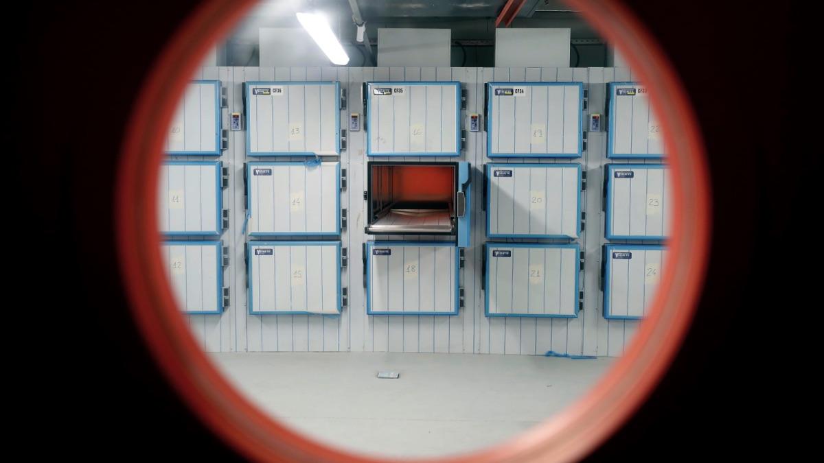 Cámaras para fallecidos por coronavirus en la Ciudad de la Justicia, en Valdebebas. (Foto: Comunidad)