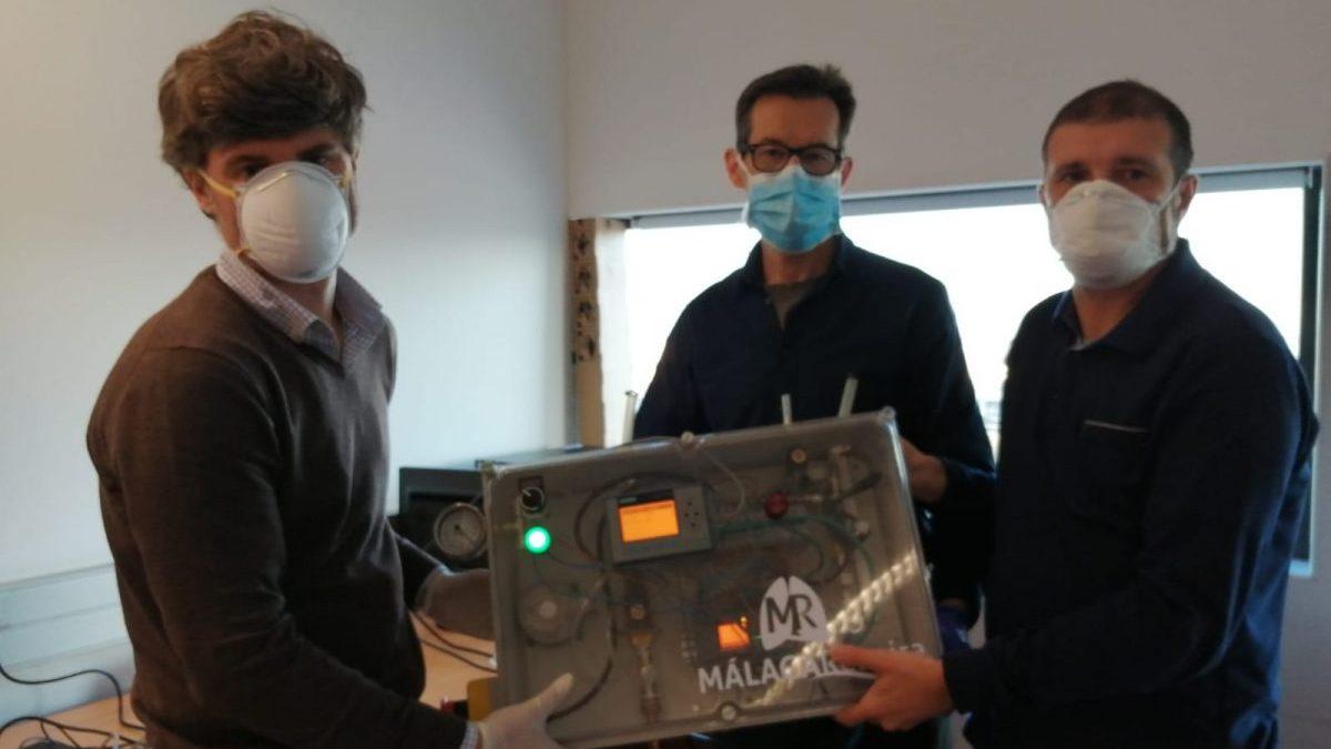 Respirador fabricado por ingenieros y médicos andaluces.