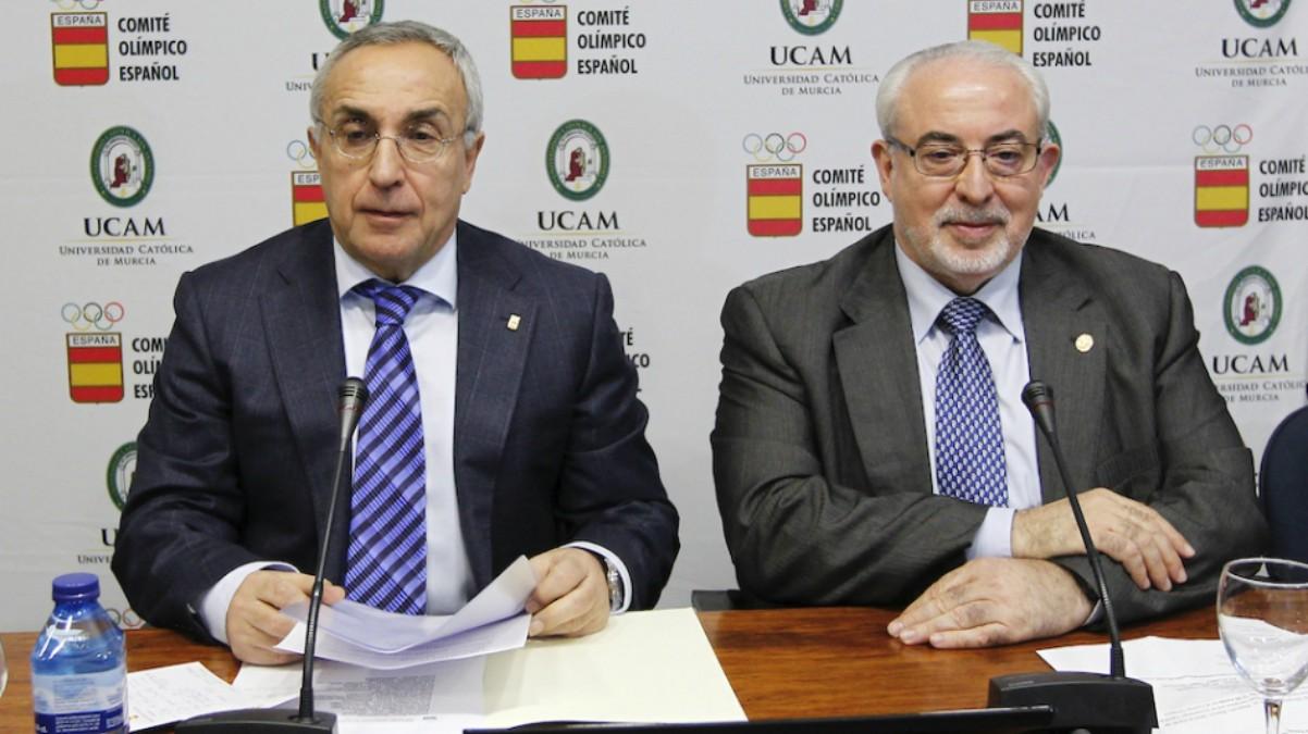 Alejandro Blanco y José Luis Mendoza (UCAM)