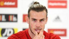 Bale, en una rueda de prensa. (Getty)