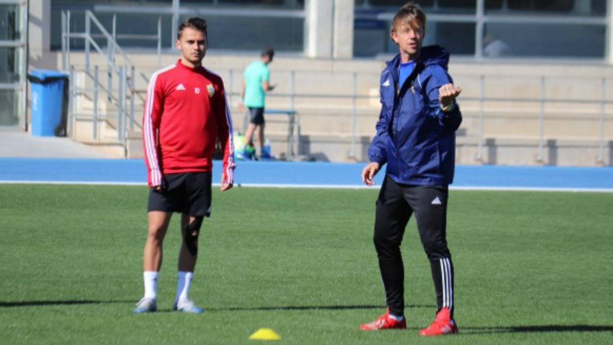 Guti, en un entrenamiento (UD Almería).