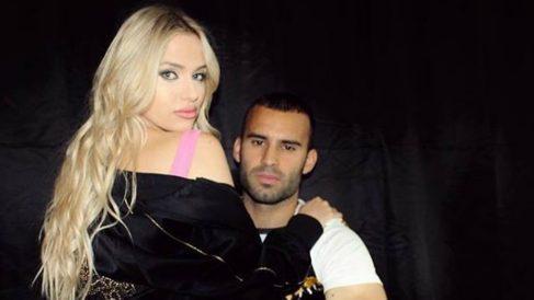 Jesé Rodríguez y su pareja.