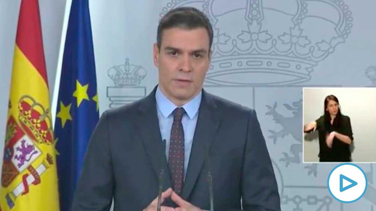 Pedro Sánchez en una comparecencia reciente