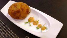 Receta de Patatas rellenas de maíz, pollo y queso