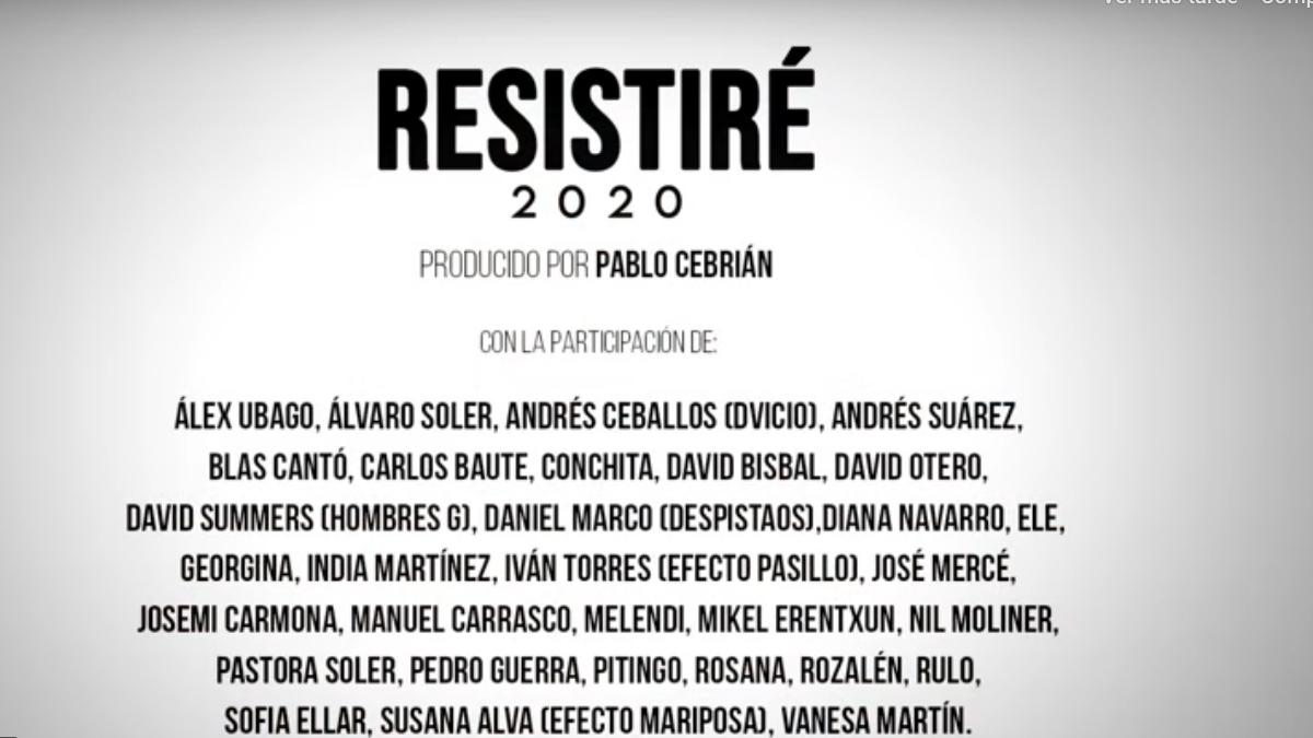 Resistiré: Varios músicos crean la nueva versión en cuarentena