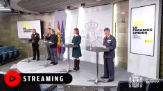Rueda de prensa en La Moncloa tras el Comité de Gestión Técnica del coronavirus.