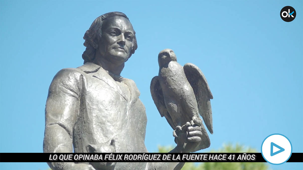 Estatua en honor a Félix Rodríguez de la Fuente