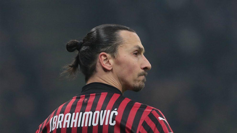 Ibrahimovic, en un partido reciente del Milan (Getty).