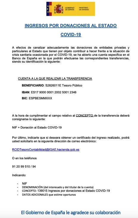 El Gobierno socialcomunista abre una cuenta para donaciones tras despreciar las de Amancio Ortega