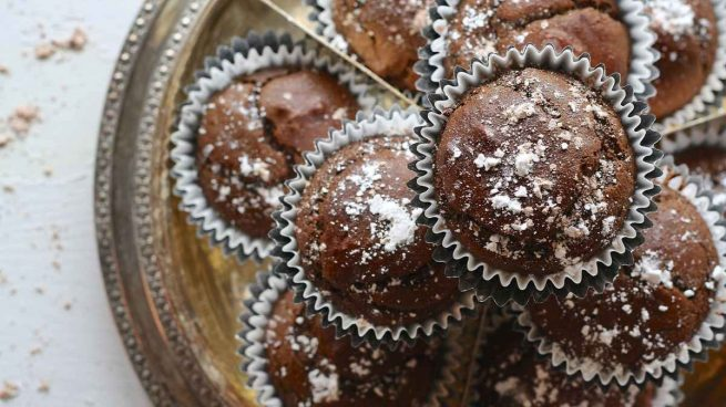 Muffins de cacao y plátano
