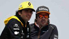 Carlos Sainz y Fernando Alonso. (Getty)
