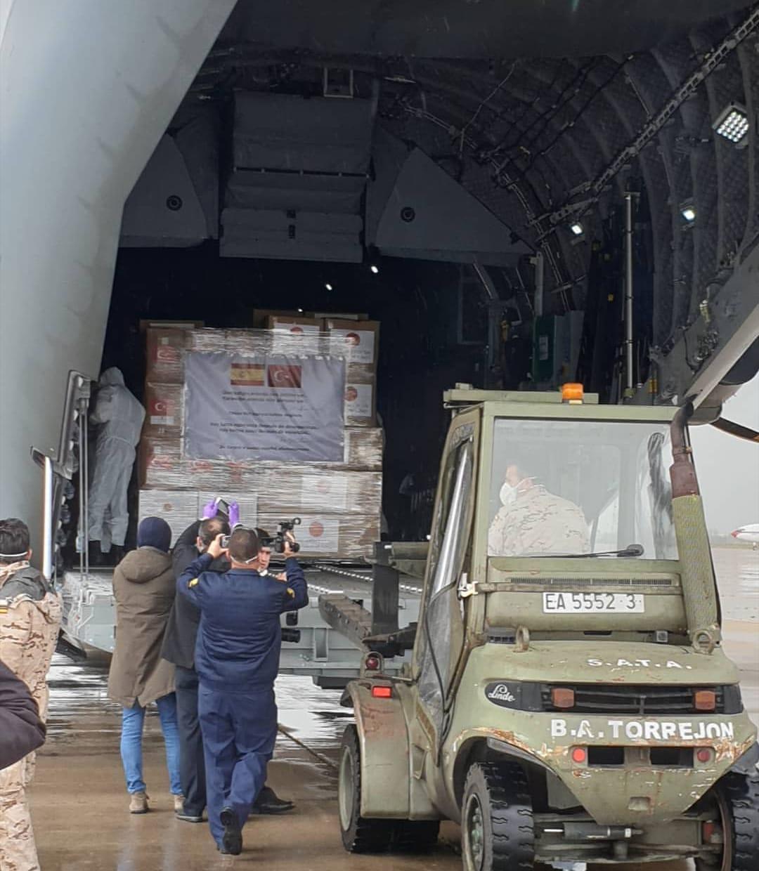 Turquía envía un avión militar a España con material de protección contra el coronavirus