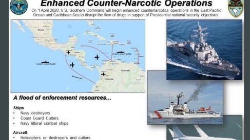 Operación de EEUU en la costa de Venezuela